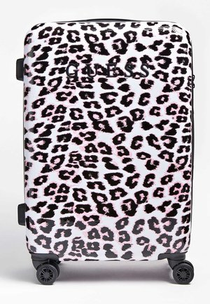 GUESS TROLLEY LORENNA ANIMALPRINT - Valise à roulettes - rose