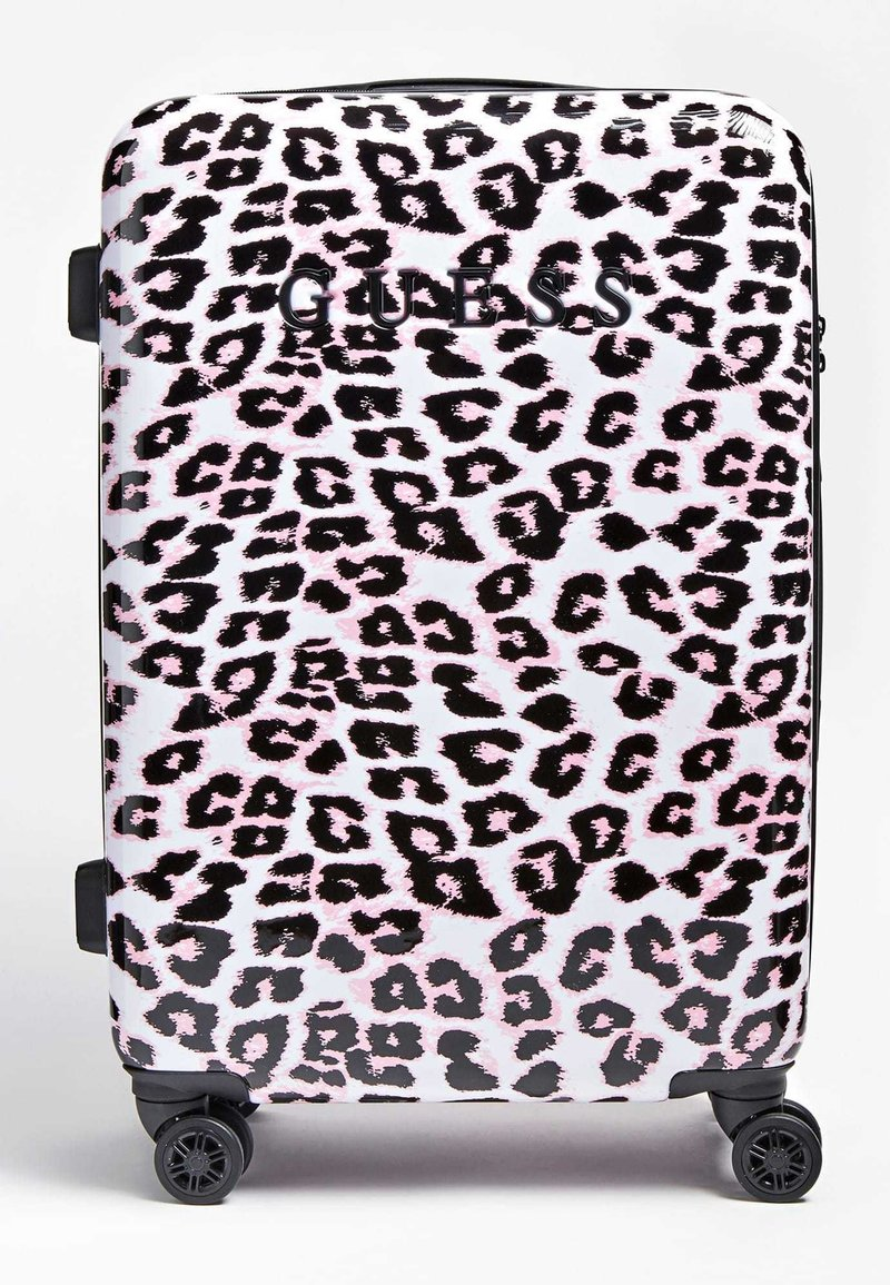 Guess - GUESS TROLLEY LORENNA ANIMALPRINT - Valise à roulettes - rose