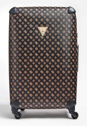 GUESS TROLLEY WILDER LOGO PEONY - Wheeled suitcase - braun