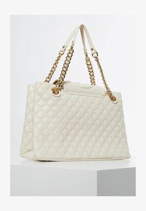 CHARLIZE STEPPED 4G LOGO - Handbag - weiß