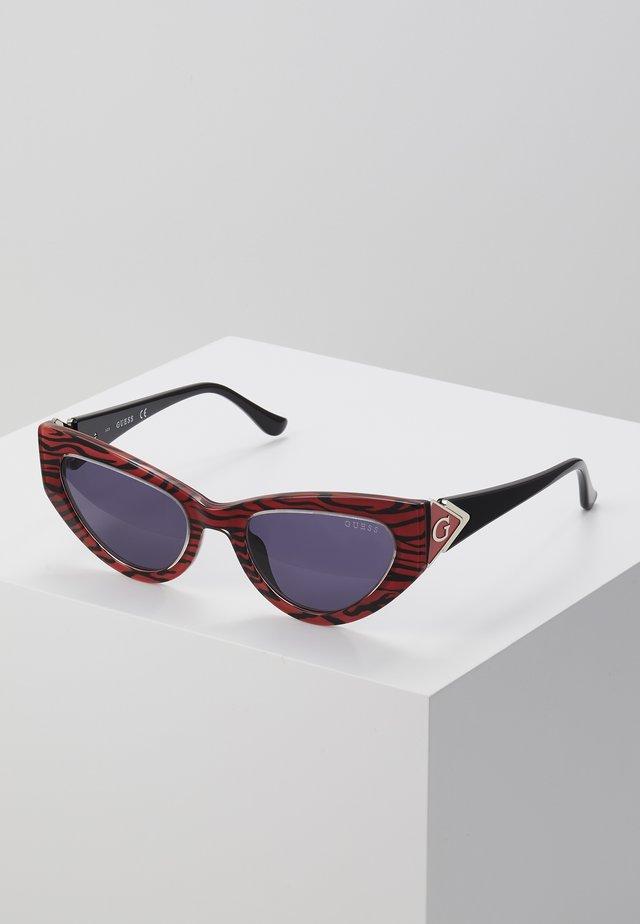 Zonnebril - mottled red