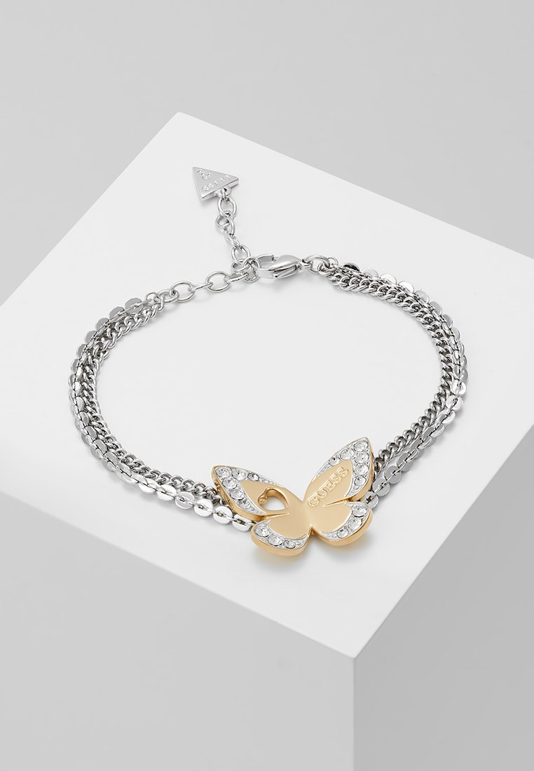 Guess - LOVE BUTTERFLY - Armband - silver-coloured/gold-coloured