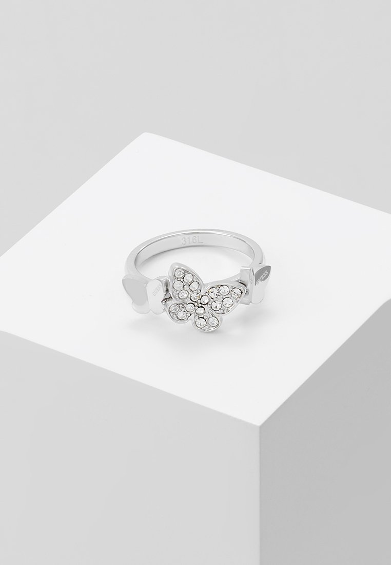 Guess - LOVE BUTTERFLY - Ring - silver-coloured