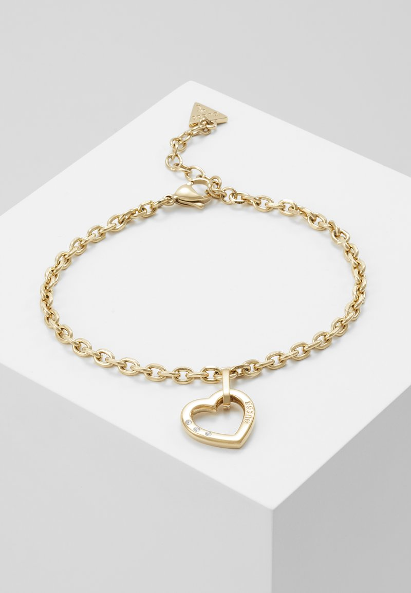 Guess - HEARTED CHAIN - Bracelet - gold-coloured