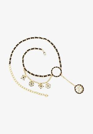 MIT EINSATZ UND CHARMS - Bracelet - black
