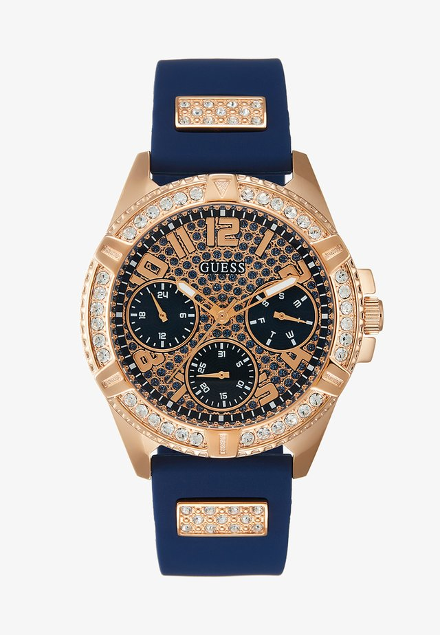 LADIES SPORT - Watch - blue/rose gold-coloured