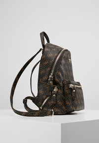 Guess - LEEZA SMALL BACKPACK - Ryggsäck - brown - 3