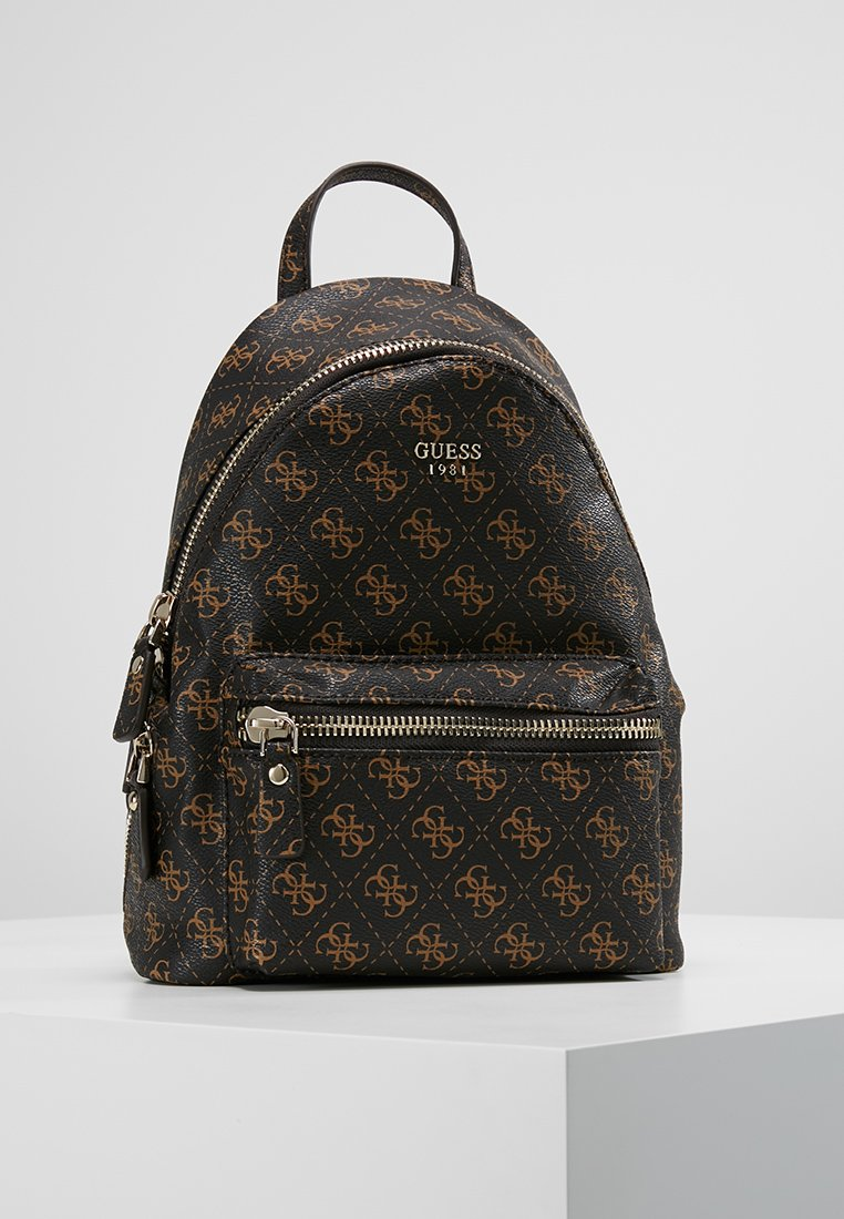 Guess - LEEZA SMALL BACKPACK - Ryggsäck - brown