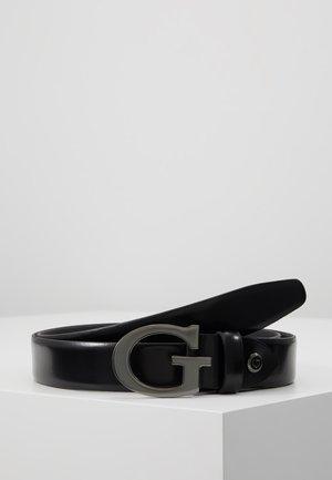 NOT COORDINATED ADJUST BELT - Cinturón - matte black