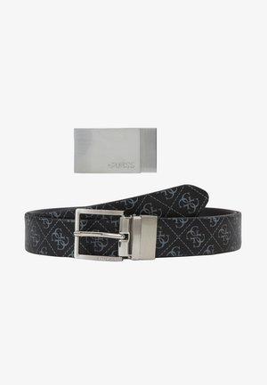 GIFT BOX W/2 BUCKLES - Belt - black