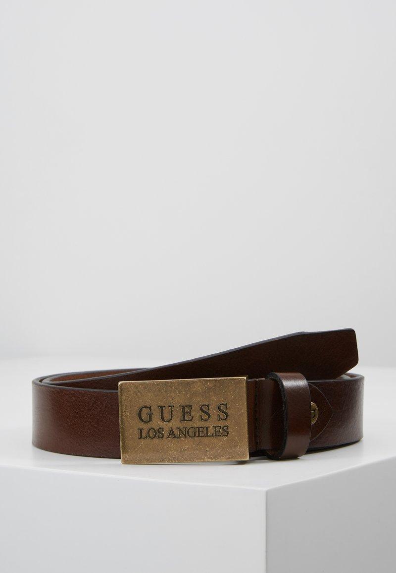 Guess - HYPE ADJUSTABLE BELT - Pásek - dark brown