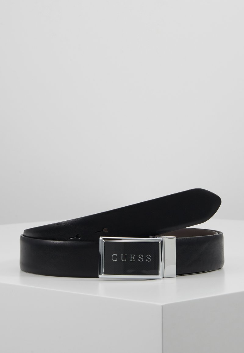 Guess - REVERSIBLE ADJUSTABLE BELT - Pásek - black/brown