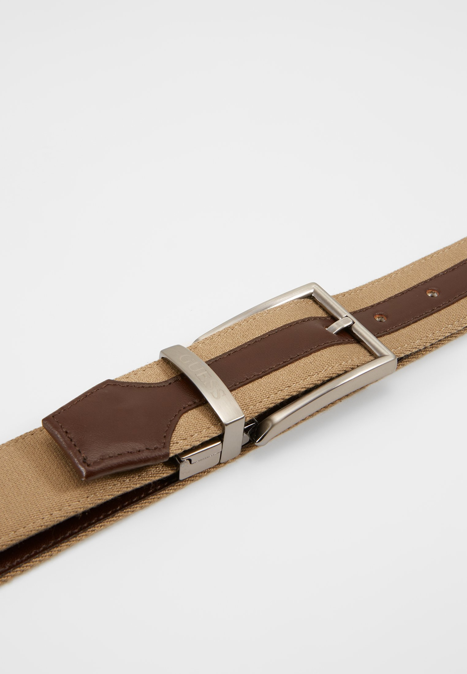 Guess Reversible And Adjustable Belt - Riem Brown