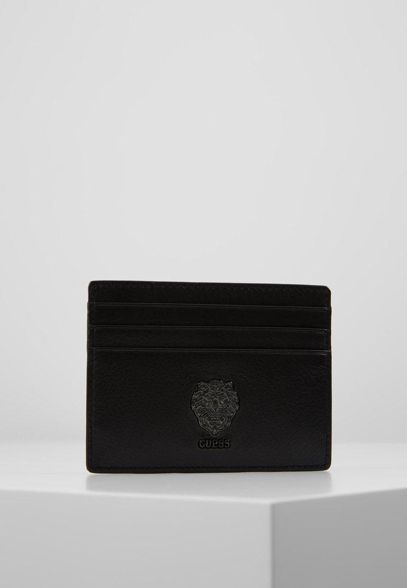 Guess - LION BOLD CARD CASE - Visitenkartenetui - black gun
