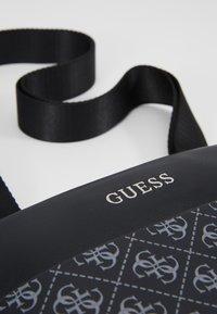 Guess - MANHATTAN LOGO FLAT CROSSBODY - Borsa a tracolla - black - 6