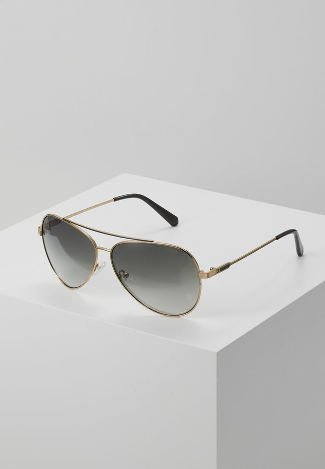 Sunglasses - gold-coloured/green gradient