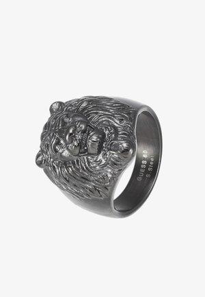 LION HEAD RING - Bague - gunmetal