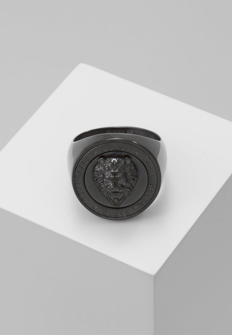 Guess - LION HEAD COIN  - Prsten - gunmetal
