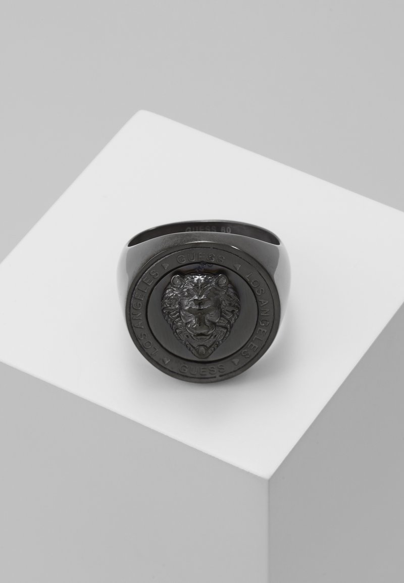 Guess - LION HEAD COIN  - Ring - gunmetal