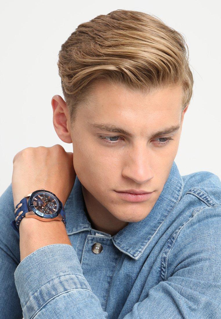 Guess - MENS SPORT - Watch - blue/roségold-coloured