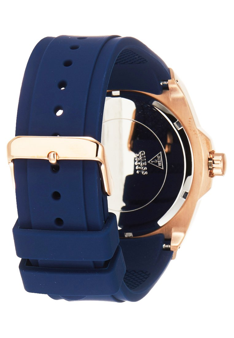 Guess SportMontre rosegold Mens coloured Blue VGqSMpLUz