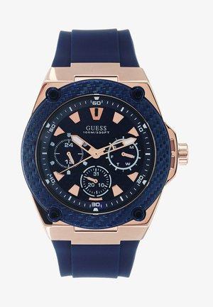 MENS SPORT - Watch - blue/rosegold-coloured