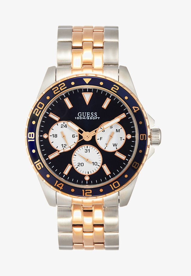 MENS SPORT - Horloge - silver-coloured/gold-coloured/blue