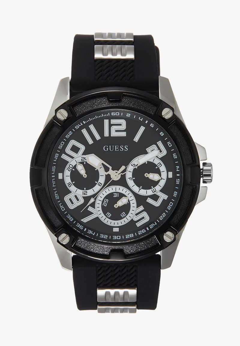 Guess - MENS SPORT MULTIFUNCTION  - Zegarek chronograficzny - black/silver-coloured