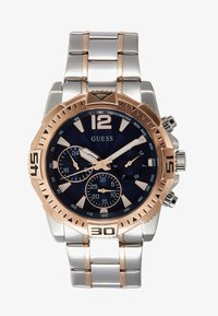 Guess - MENS SPORT - Rannekello ajanottotoiminnolla - silver-coloured/rose/blue - 0