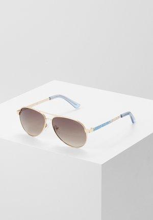 Sonnenbrille - gold/blue