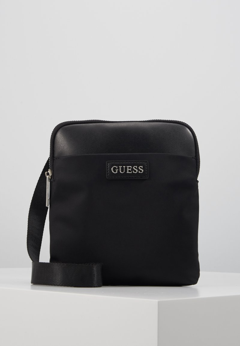 Guess - NEW MILANO MINI CROSSBODY FLAT - Across body bag - black