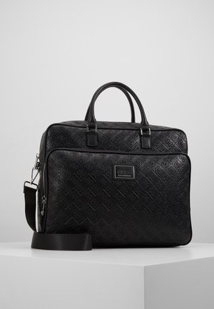 DAN LOGO BRIEFCASE - Aktentasche - black