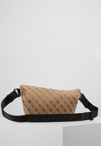 Guess - DAN LOGO CROSSOVER POUCH - Bum bag - brown - 3