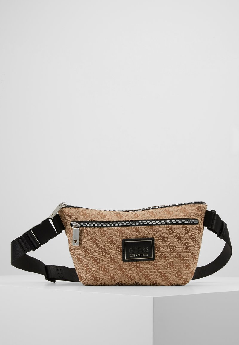 Guess - DAN LOGO CROSSOVER POUCH - Bum bag - brown