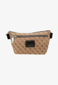 Guess - DAN LOGO CROSSOVER POUCH - Bum bag - brown - 1