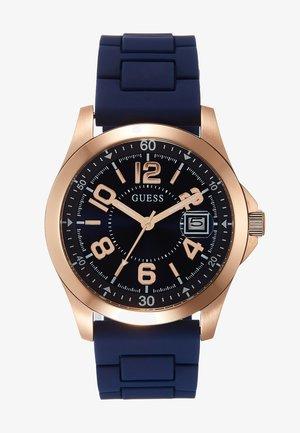 UNISEX SPORT DATE - Horloge - blue/rose gold-coloured