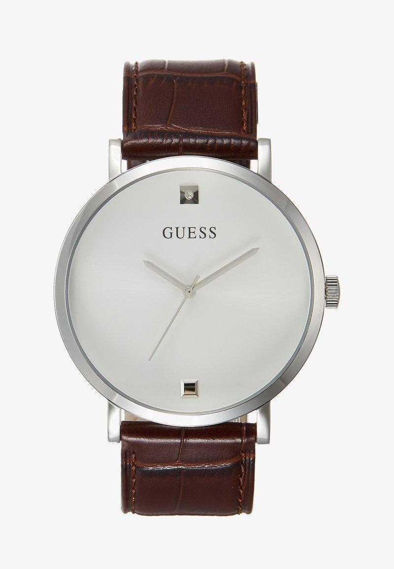 Guess - GENUINE DIAMOND - Montre - brown/silver-coloured