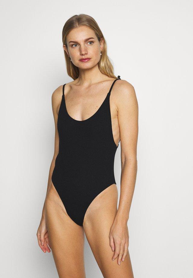 PIECE BEACH WOMAN - Kostium kąpielowy - jet black