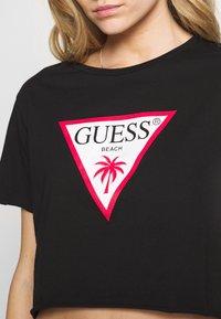 Guess - CROPPED - Maglia del pigiama - jet black - 5