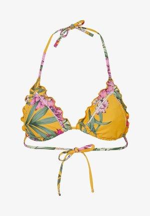 TRIANGLE - Top de bikini - yellow