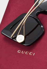 Gucci - Sonnenbrille - black/gold-coloured/grey - 4