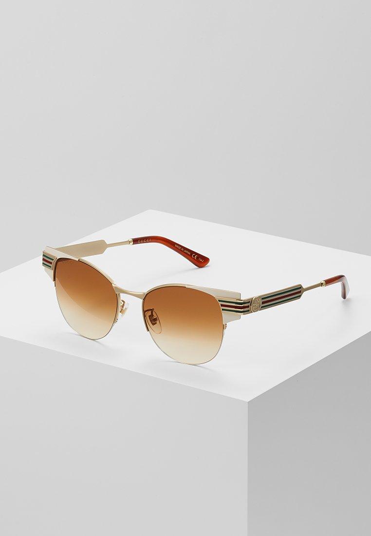 Gucci - Sluneční brýle - ivory/gold-coloured/brown