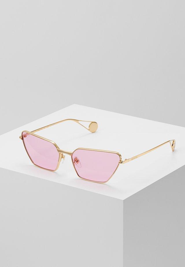 Okulary przeciwsłoneczne - gold-coloured/pink