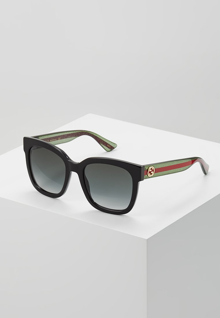 Gucci - Sunglasses - black/green/grey