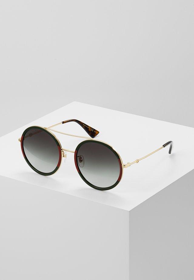 Okulary przeciwsłoneczne - gold-coloured/green