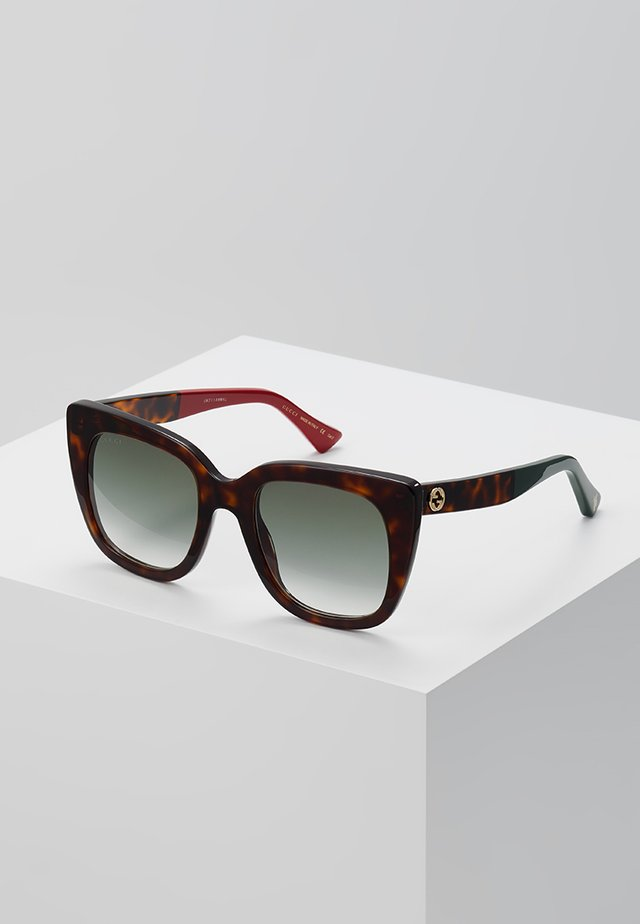 Sonnenbrille - havana/green