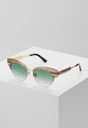 Sunglasses - brown/green