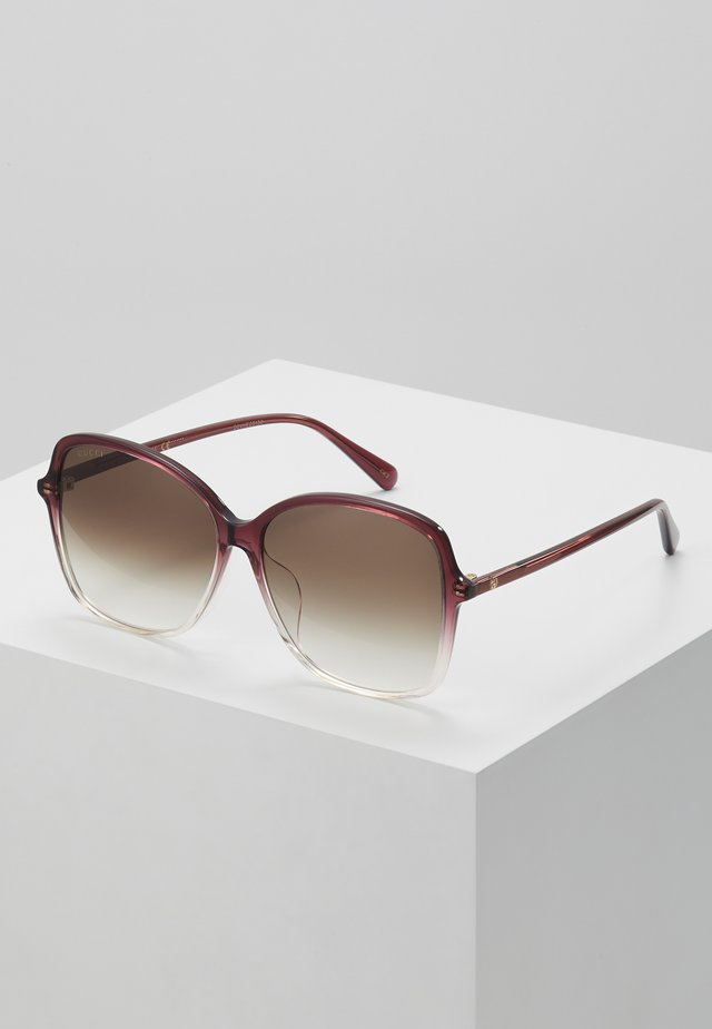 Sonnenbrille - burgundy/brown