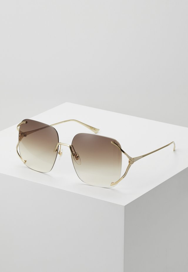 Sonnenbrille - gold-coloured/brown