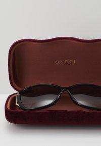 Gucci - Sunglasses - black/gold-coloured/grey - 4